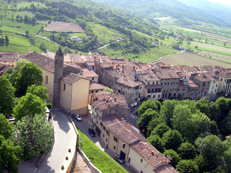 Poppi Italy  City pictures : Poppi and the surrounding Tuscan countryside as seen from the top of ...